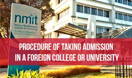 Procedure of taking admission in a foreign college or university by touchstone educationals