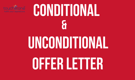 Conditional & Unconditional Offer Letter Touchstone Educationals