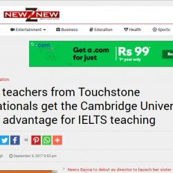 IELTS teachers from Touchstone Educationals get the Cambridge University